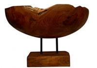 Schale Sawu mit Fuß 30cm x 30cm x 45cm
