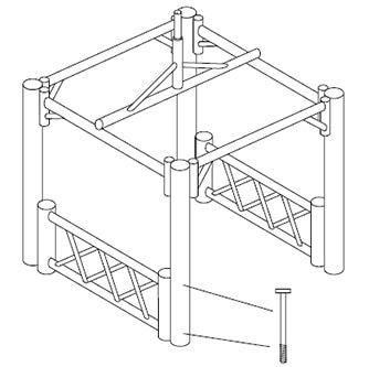 Balipavillon Aufbau Skizze Schritt 5