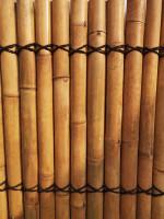 Bambus Sichtschutz, halbes Rohr, 200 cm hoch, 90 cm breit hell, Mindestbestellmenge: 5 Stück