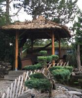 Bambus Pavillon, Gazebo 3,20 x 3,20 m ohne Seitenteile