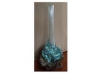 Vase Glas/Teak 70cm