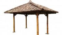 Bambus Pavillon, Gazebo 4,20 x 3,20 m ohne Seitenteile