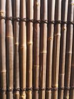 Bambus Sichtschutz halbes Rohr 200, dunkel