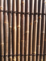 Bambus Sichtschutz, halbes Rohr, 200 cm hoch, 90 cm breit, dunkel, Mindestbestellmenge: 5 Stück