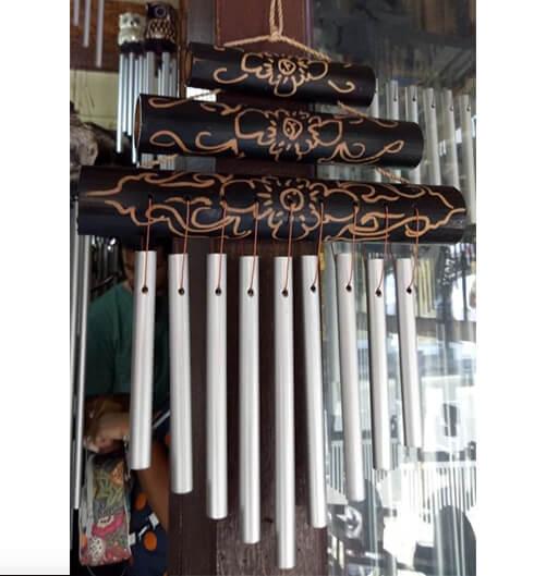 Windspiel Metall dunkel 25cm