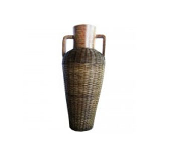 Vase mit Griffen Rattan 100cm