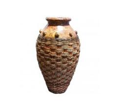 Vase mit Seegras 80cm