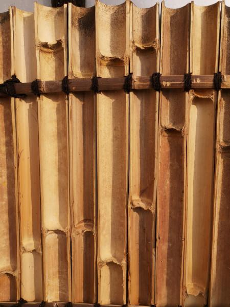 Bambus Sichtschutz, halbes Rohr, 180 cm hoch, 90 cm breit, hell, Mindestbestellmenge: 5 Stück
