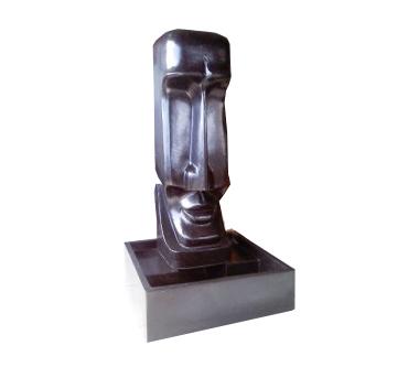 Moai - Osterinseldekobrunnen 100cm
