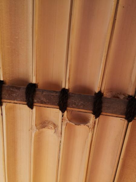 Bambus Sichtschutz, halbes Rohr, 180 cm hoch, 90 cm breit, dunkel, Mindestbestellmenge: 5 Stück