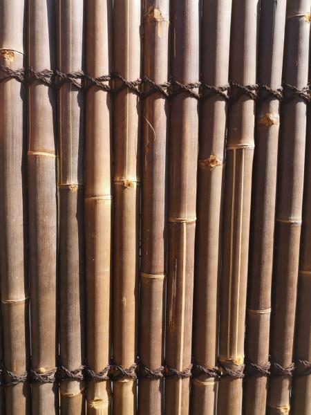 Bambus Sichtschutz halbes Rohr 180, dunkel