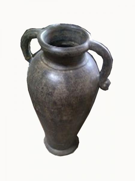 Vase mit Griffen dunkel 60cm