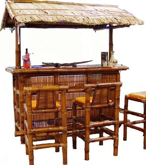 Bambus Tikibar 150x110x40cm
