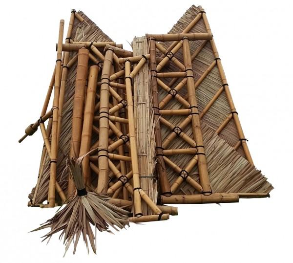 Bambus Pavillon, Gazebo 5,20 x 5,20 m mit Seitenteilen