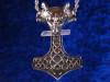 Thors's Hammer Kristall Amulett