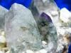 Rauchquarz Stufe mit weißen Orthoklas Kristallen aus Namibia