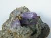 Amethystkristalle auf Chalcedon von Sardinien