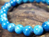 Blaues Apatit Kugel Armband