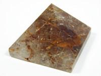Bergkristall Pyramide XL mit grünem Turmalin