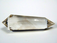 Heller Rauchquarz Vogel Cut Kristall 24-seitig