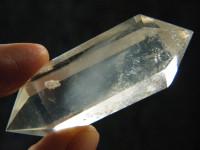 Klarer Bergkristall Doppelender mit Phantom