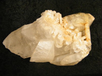 Bergkristallstufe XL mit Landschaftsquarz