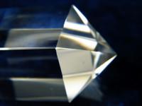 Vogel Cut Kristall 12-seitig mit Chlorit-Phantomen
