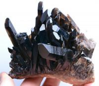 Morion Kristall Stufe aus Tibet