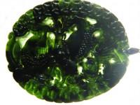Tiger-Anhänger aus grüner Jade