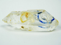 Bergkristall Doppelender mit 2 Libellen