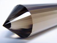 Rauchquarz Vogel Cut Kristall 24-seitig XL