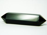 Schwarzer Obsidian Doppelender 10cm