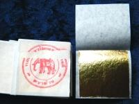 100 Blatt echtes Gold 24 Karat