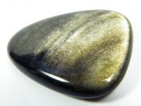 Gold-Obsidian poliert