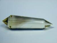 Citrin Vogel Cut Kristall 24-seitig mit Rauchquarz Phantom