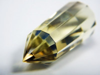 Phantom-Citrin Vogel Cut Kristall 12-seitig