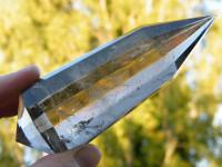 Rauchquarz Vogel Cut Kristall 12-seitig XL
