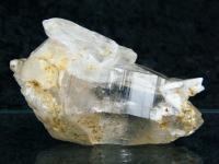 Doppelender Bergkristallstufe aus Brasilien