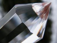 Klarer Vogel Cut Kristall 33-20-13-seitig