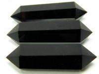 Schwarzer Obsidian Doppelender