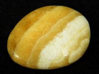 Orangen-Calcit poliert