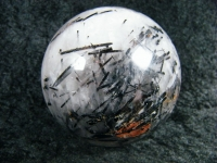Rauchquarz Kugel XL mit schwarzem Turmalin