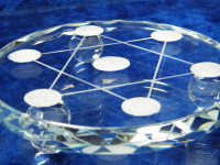 Kristall Untersetzer aus Glas