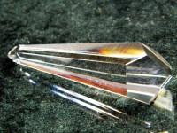 Pentagon-Doppelender Kristall aus klarem Bergkristall