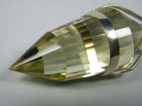 Vogel Cut Kristall Anhänger 24-seitig aus Citrin