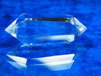 Bergkristall Doppelender 6-7cm poliert