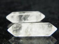Bergkristall Doppelender mit Libelle