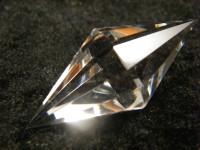 Bergkristall Doppelpyramide 12-seitig