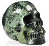 Schwarzer Jaspis Kristallschädel 1361g