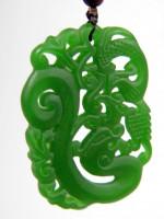 Drachen-Amulett aus grüner Jade
